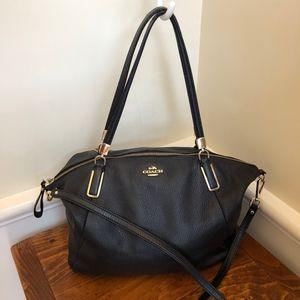 Coach Black Leather Satchel/ Cross body bag